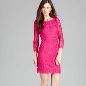 🌹DVF Floral Lace Mini Dress🌹